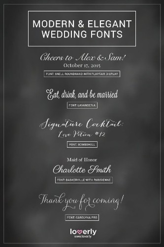 20 Fabulous Fonts for Every Wedding Style