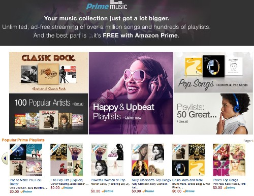 Amazon Launches 'Prime Music' Streaming Service with Access to Over One Million Songs