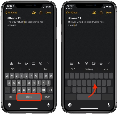 How to Use the Virtual Trackpad on iPhone 11, iPhone 11 Pro, and iPhone 11 Pro Max