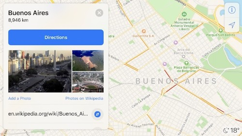 Apple Maps Now Shows Traffic Conditions in Argentina