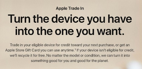 Apple Slashes Estimated Trade-In Values of iPhone, iPad, Mac, and Apple Watch Models Overnight