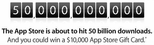 Apple Begins Countdown to 50 Billion App Store Downloads
