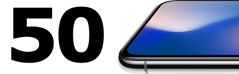 50 New Features in iPhone X