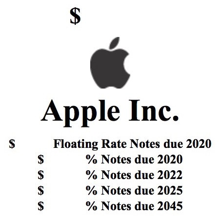 Apple Planning to Raise Reported $5 Billion in Bond Sale [Updated]