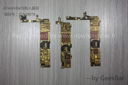 Bare Logic Boards for 4.7-Inch and 5.5-Inch iPhone 6 Compared in New Photos