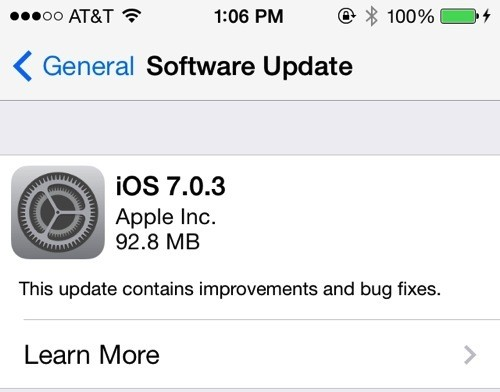 Apple Releases iOS 7.0.3, Adds Support for iCloud Keychain, Accelerometer Issues