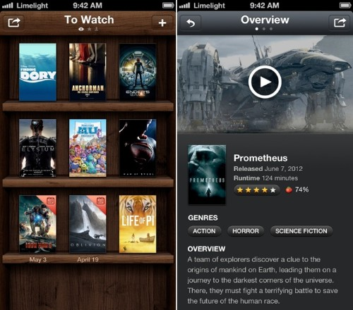 Limelight for iPhone Lets Users Catalog and Share Movie Choices