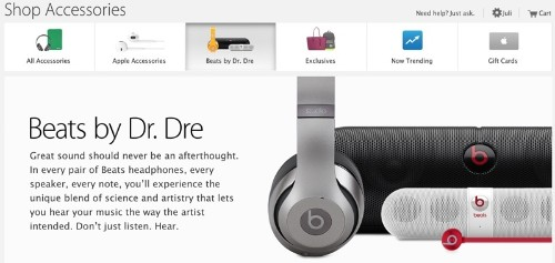 Apple Adds Dedicated Beats By Dr. Dre Accessory Section to Online Store