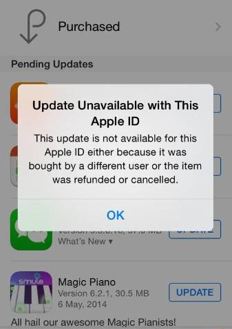 Some iOS Users Reporting Apple ID Error Messages When Updating Apps