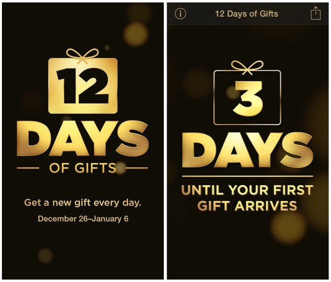 Apple's '12 Days of Gifts' App for 2013 Now Live, Includes U.S. Customers