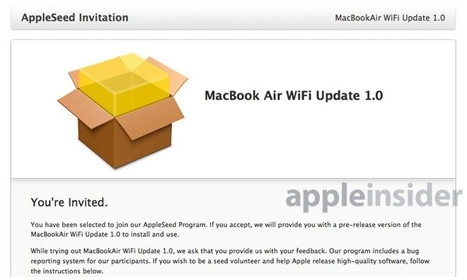 Apple Testing Software Update to Address 2013 MacBook Air Wi-Fi Issues