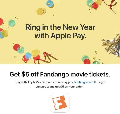Apple Pay Promo Offers $5 Off Fandango Movie Tickets