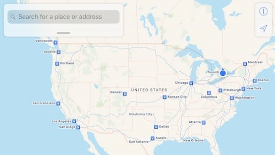 Apple Maps Now Supports Amtrak's Full System in U.S. and Canada