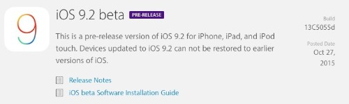 Apple Seeds First iOS 9.2 Beta to Developers