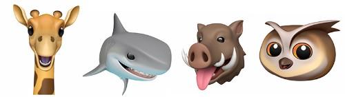 Apple Introduces New Giraffe, Shark, Owl and Boar Animoji in iOS 12.2 Beta