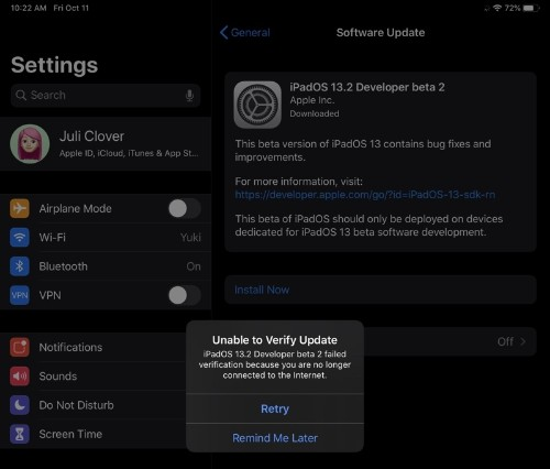 iOS 13.2 Beta 2 Bricking Some iPad Pro Models, Update Now Unavailable