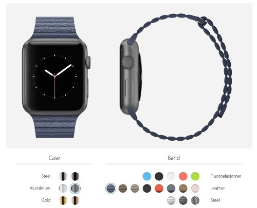 Apple Watch Site Lets Users Explore Different Band and Casing Combinations