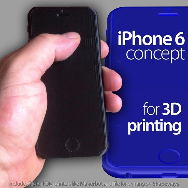 3D Print Your Own 4.7-Inch iPhone 6 Mockup with These $25 Plans