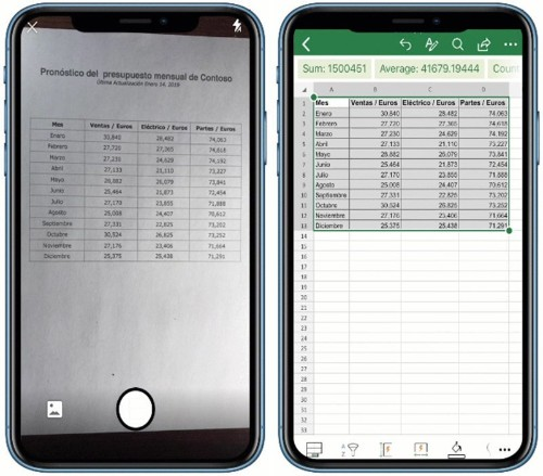 Microsoft Brings 'Insert Data From Picture' Excel Feature to iOS Devices