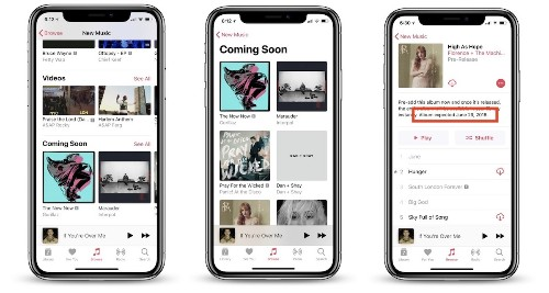 Apple Music Rolling Out Update With 'Coming Soon' Section, Album Launch Dates, and New Artist Profiles