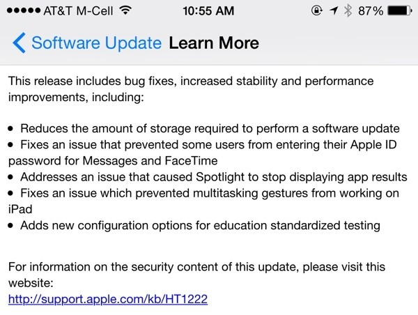 Apple Releases iOS 8.1.3 With Bug Fixes, Storage Size Reduction