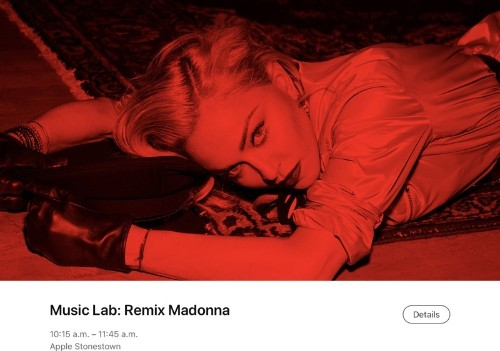 Apple Teams Up With Madonna for Today at Apple Music Lab Classes