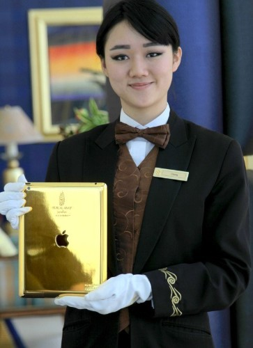 Burj Al Arab in Dubai Introduces Gold-Plated iPads for Guest Use