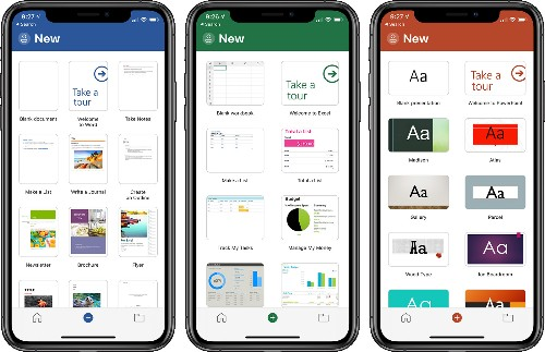 Microsoft Word, Excel, and PowerPoint Apps Redesigned With Simplified Three-Tab Layout on iPhone