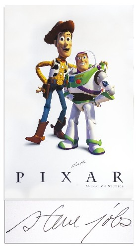 Pixar Animations Studios Poster Signed by Steve Jobs to Be Auctioned Off for $25,000+