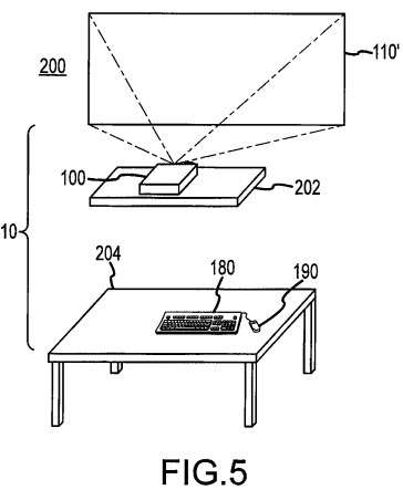 Wireless 'Desk Free' Computer System with Projection Display Detailed in New Apple Patent