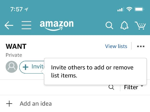 Amazon Testing Collaborative Shopping List Feature on iOS App and Website
