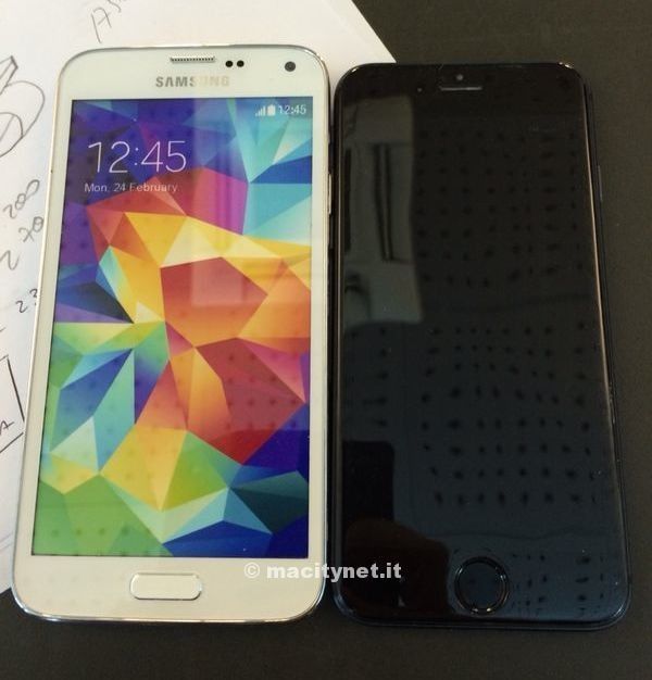 Physical iPhone 6 Mockup Compared to Galaxy S5 in New Images