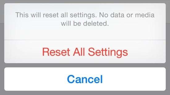 Bug in iOS 8's 'Reset All Settings' Option Also Erases iCloud Drive Documents