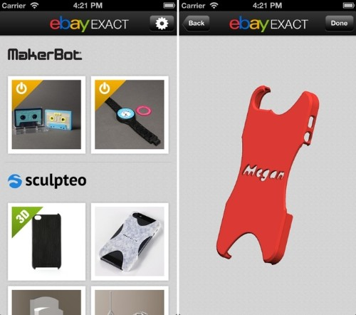 'eBay Exact' App Allows Users to Customize and Print 3D Items