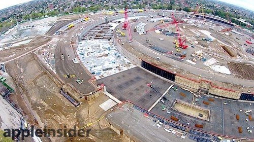 Apple Campus 2 Construction Progresses as Parking Garage and Event Theater Take Shape