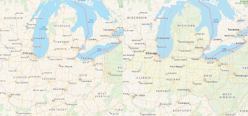 Apple's Maps Revamp Creeps into Midwest U.S.