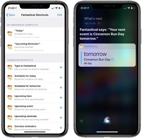 Fantastical 2 for iPhone and Apple Watch Gains Support for Siri Shortcuts, New Watch Faces