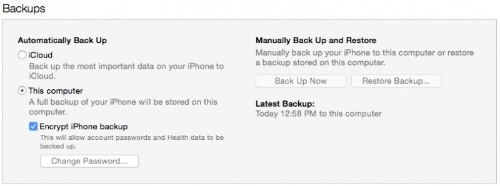 How to Encrypt Your iOS Device's iTunes Backup