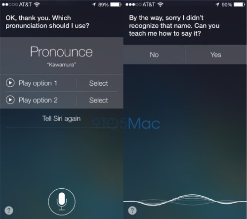 iOS 7's Siri Can Learn How to Pronounce Names
