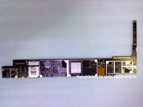 New Images of iPad Air 2 Parts Show Touch ID Home Button Cable, Logic Board With A8X Chip, and More