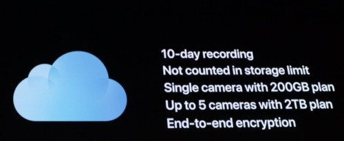 Apple's Secure Video HomeKit Feature Requires a 200GB or 2TB iCloud Storage Plan