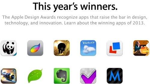 Apple Announces 2013 Design Awards, Winning Apps Include 'Letterpress' and 'Evernote'