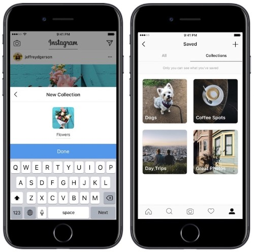 Instagram Introduces New Organizational Tool for Saved Posts Called 'Collections'