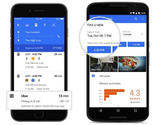 Google Maps for iOS Rolling Out New Look With OpenTable and Uber Integration
