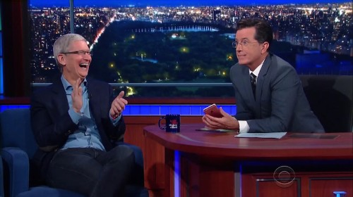 Tim Cook Talks iPhone 6s, Social Responsibility, and More on 'The Late Show With Stephen Colbert'