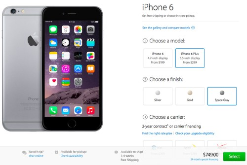 Apple's iPhone 6 Plus Pre-Order Shipping Estimates Slip to 3-4 Weeks