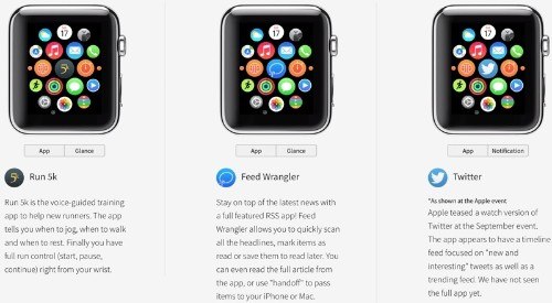 New Site Offers Interactive Look at Upcoming Apple Watch Apps