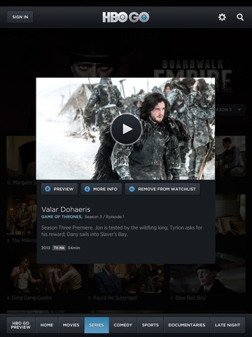 HBO Updates iOS App with AirPlay Multitasking and Game of Thrones Interactive Features