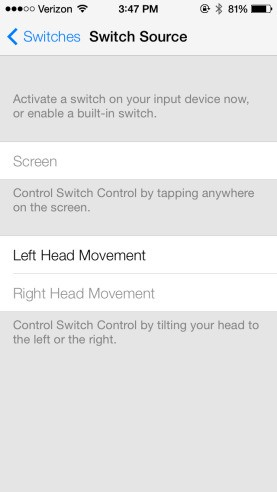 New Accessibility Options in iOS 7 Allow iPad or iPhone to Be Controlled with Head Movements