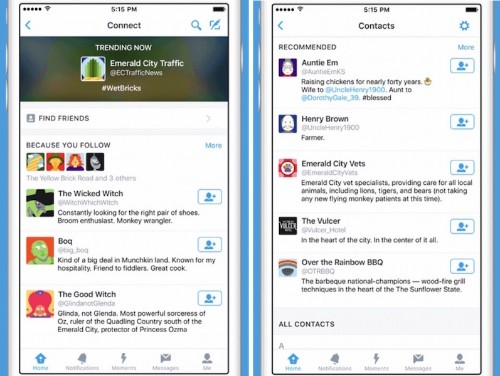 Twitter Launches 'Connect Tab' on iOS and Android to Curate Recommended Accounts
